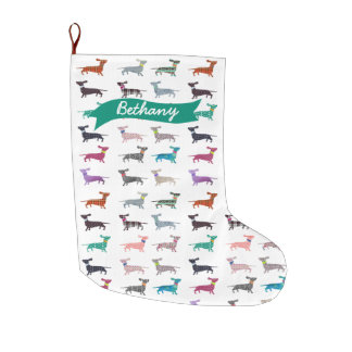 Quirky Dachshund Holiday Stocking