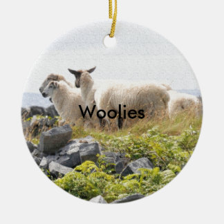 Quirky Designs - Sheep in a field Round Ceramic Decoration