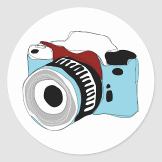Quirky digital camera illustration stickers
