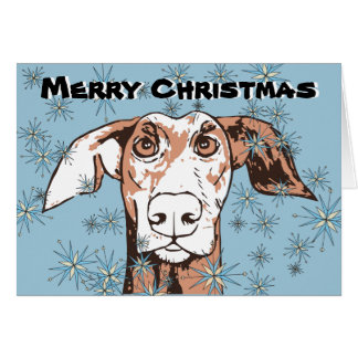 Quirky dog christmas card