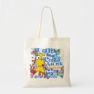 quirky doodle and contemporary lettering budget tote bag
