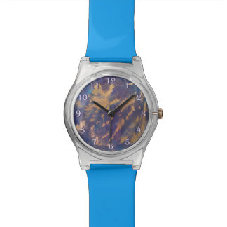 Quirky Gold Purple Black Blue Turquoise Wristwatch