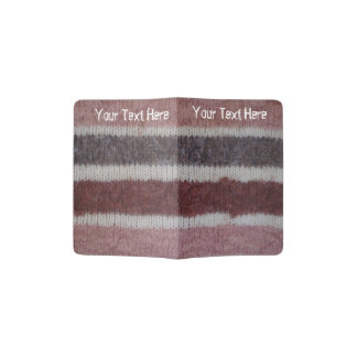 quirky knitted brown and beige stripes design fun