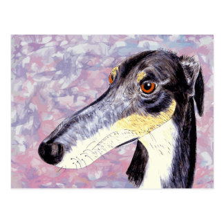 Quirky lurcher postcard