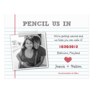 Quirky Note Photo Save The Date Card