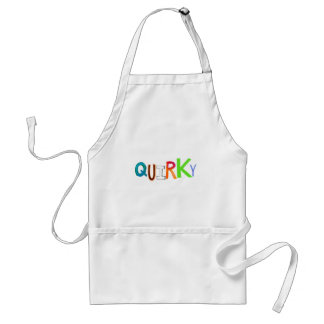 Quirky odd unusual unique fun colorful art word standard apron