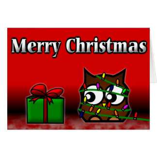 Quirky Owl Christmas Card