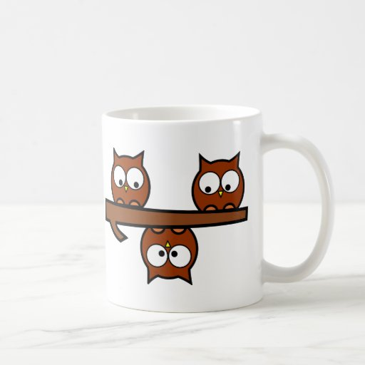 Quirky Owls Coffee Mugs