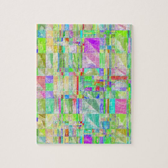 Quirky Quilt Abstract Design Puzzle