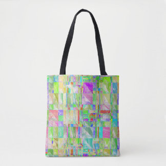 Quirky Quilt Abstract Design Tote Bag