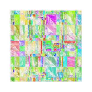Quirky Quilt Abstract Design Wall Hanging Canvas Print