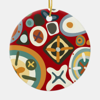 Quirky Shapes2 Round Ceramic Decoration