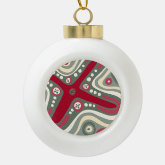 Quirky Shapes Ceramic Ball Decoration