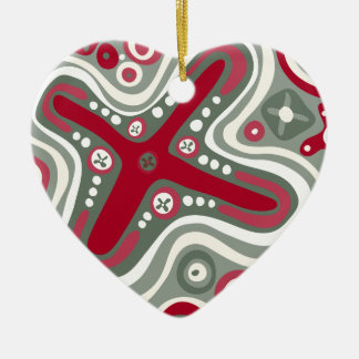 Quirky Shapes Ceramic Heart Decoration