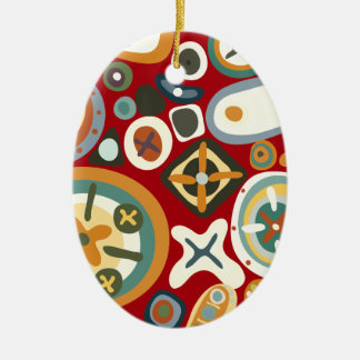 Quirky Shapes Ceramic Oval Decoration