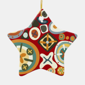 Quirky Shapes Ceramic Star Decoration