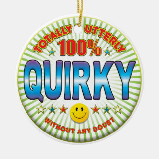 Quirky Totally Round Ceramic Decoration
