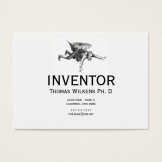 Quirky Vintage Inventor Business Card