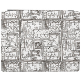 Quirky-Whimsical Abstract Geometric Doodle iPad Cover
