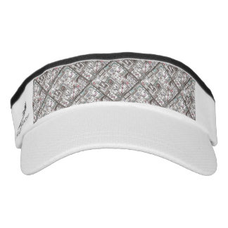 Quirky-Whimsical Abstract Geometric Doodle Visor