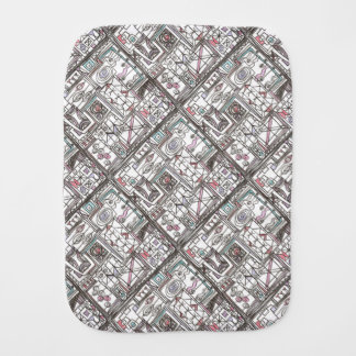 Quirky-Whimsical Geometric Abstract Burp Cloth
