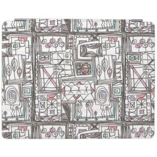 Quirky-Whimsical Geometric Doodle iPad Cover