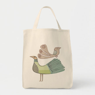 quirkybirds grocery tote
