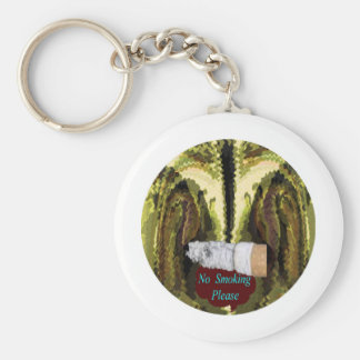 QUIT NOW -  Smoking is injurious to health Basic Round Button Key Ring