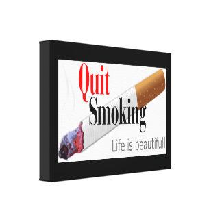 QUIT SMOKING CANVAS PRINT