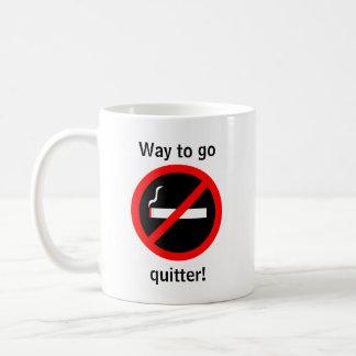 Quit smoking congratulations coffee mug