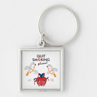 Quit smoking please key ring