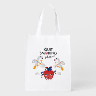 Quit smoking please reusable grocery bag