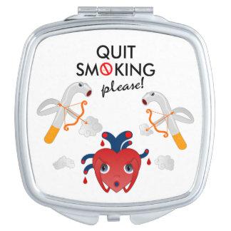 Quit smoking please vanity mirror