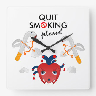 Quit smoking please wall clock