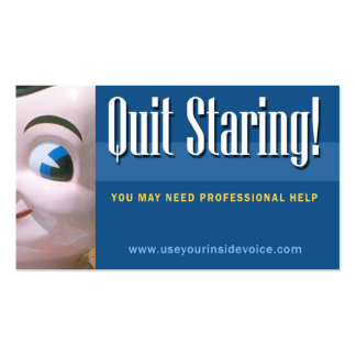 Quit Staring! Business Card Template