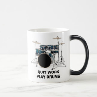 Quit Work Play Drums Mug