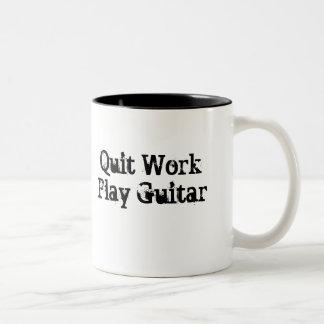 Quit Work, Play Guitar Coffee Mug