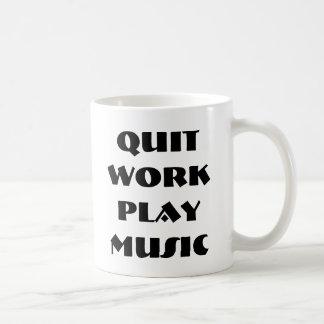 Quit Work Play Music Mug