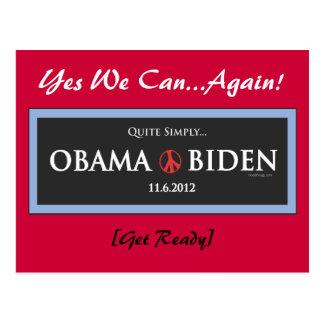 Quite Simply OBAMA BIDEN 2012 Postcard