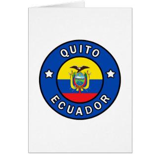 Quito Ecuador Card