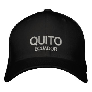 quito Ecuador Personalized Adjustable Hat Embroidered Hat
