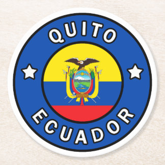 Quito Ecuador Round Paper Coaster