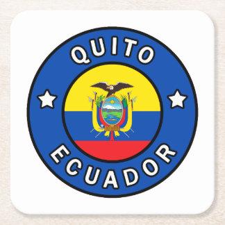 Quito Ecuador Square Paper Coaster