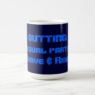 QUITTING: equal parts Brave & Risky Basic White Mug