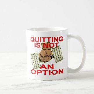 Quitting Is Not An Option Sgl Dumbbell Weightlift Basic White Mug