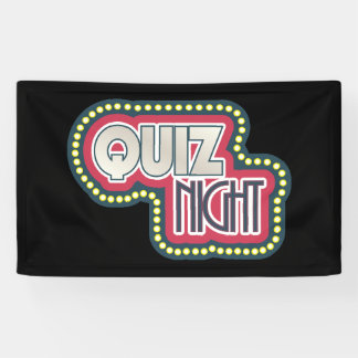 Quiz Night Trivia Party Banner