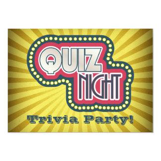 Quiz Night Trivia Party Invitation