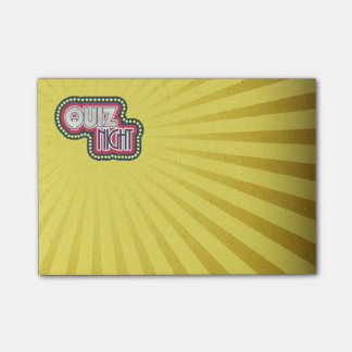 Quiz Night Trivia Party Post-it Notes