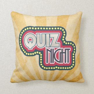 Quiz Night Trivia Party Sunburst Cushion