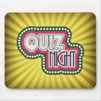 Quiz Night Trivia Party Yellow Sunburst Mouse Pad
